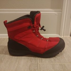 LANDS END Extreme Squall Waterproof Snow Boots Red